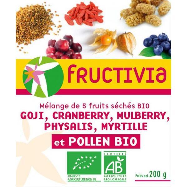 5 FRUITS SECS + POLLEN - MELANGE BIO FRUCTIVIA