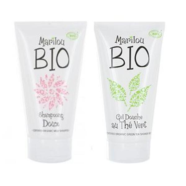 Lot 1 Shampooing + 1 gel douche au thé vert - MARILOU BIO