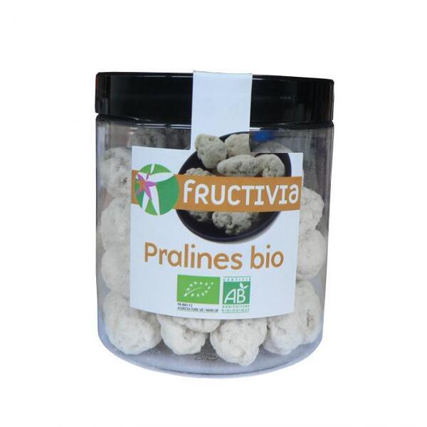 Pralines bio : amandes bio enveloppees de sucre de canne bio (pot 140 g)- fructivia