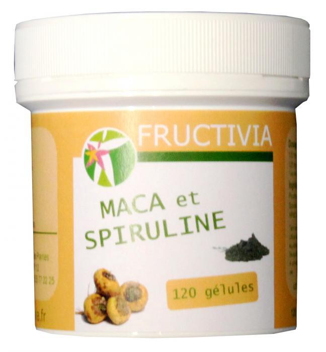 Maca bio et spiruline fructivia - 120 gélules