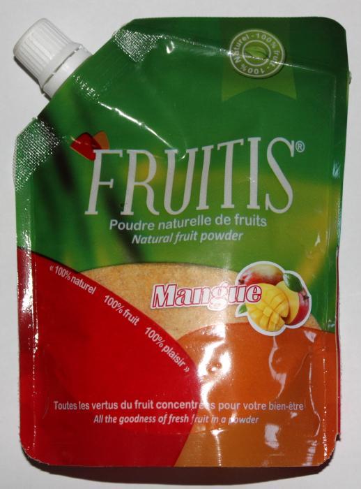 poudre naturelle de fruits Fruitis - mangue 100g