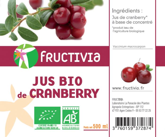jus de cranberry bio