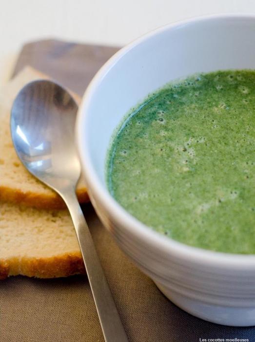 Soupe de cresson et de spiruline - recette esprit santé
