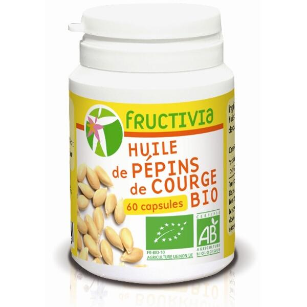 Capsules huile pépins de courge bio fructivia