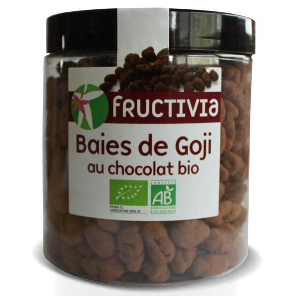Baies de goji au chocolat bio (pot 150 g) - fructivia