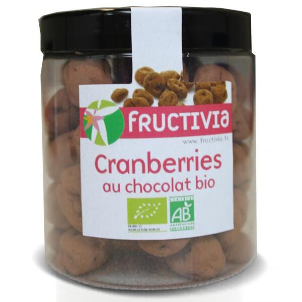 Cranberries au chocolat bio (pot 150 g) - fructivia