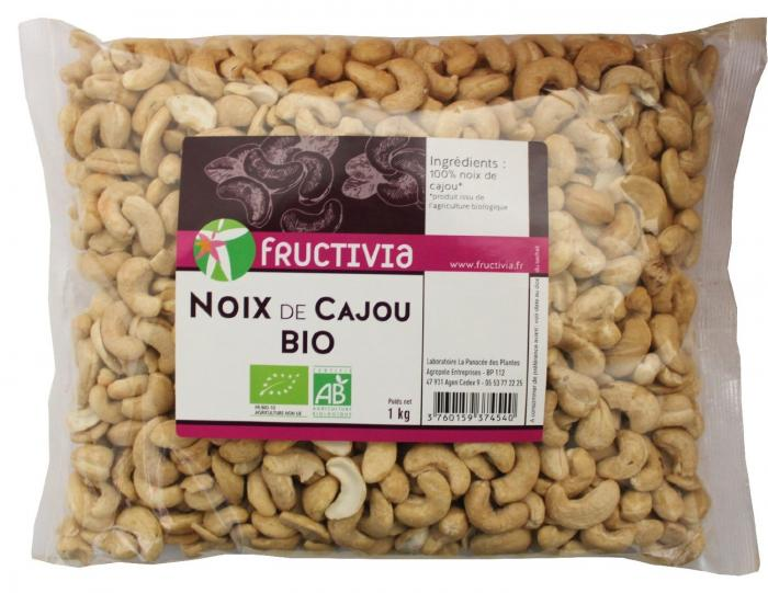 noix de cajou bio sachet 1kg fructivia