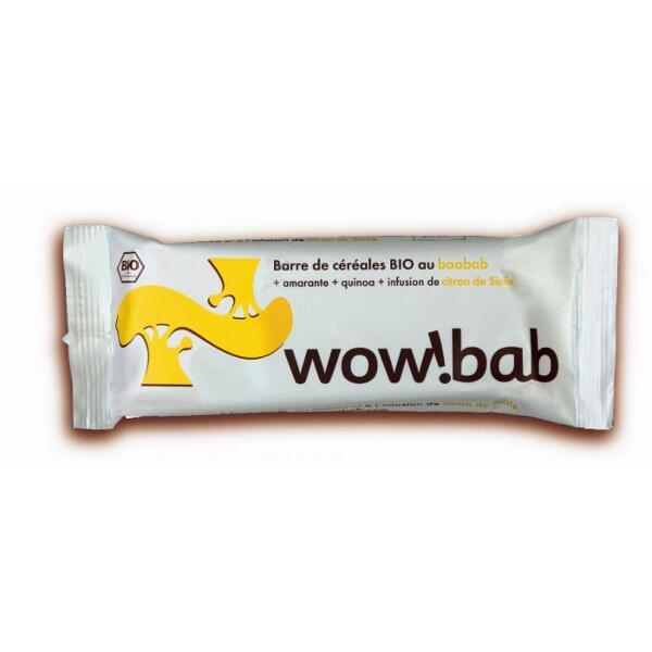 Barre de céréales bio citron wow bab