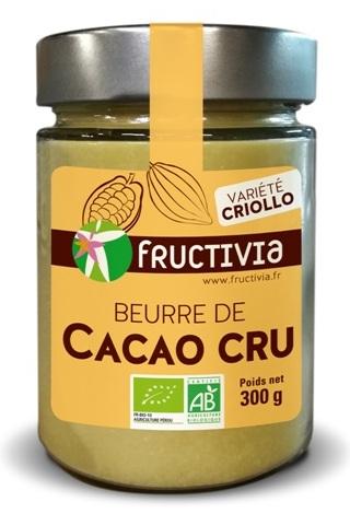 beurre de cacao cru bio