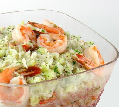Salade de riz et crevette