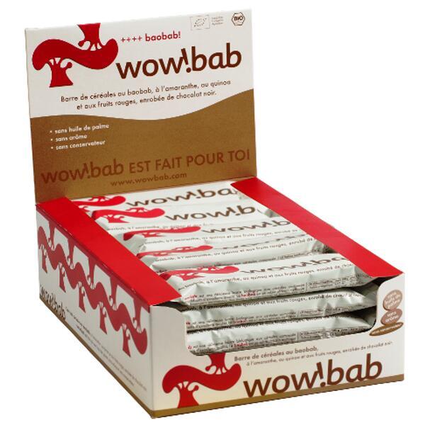 boite de céréales bio baobab fruits rouges