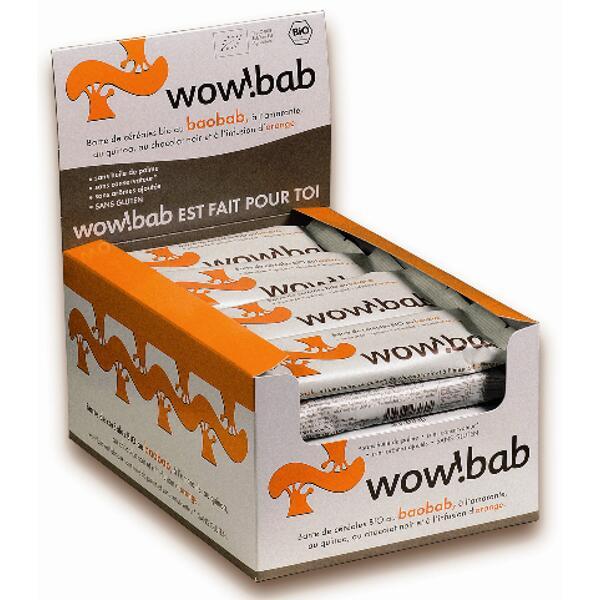 boite de 24 barres de céréales bio - orange