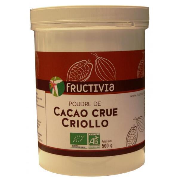 Poudre de cacao crue criollo bio 500g
