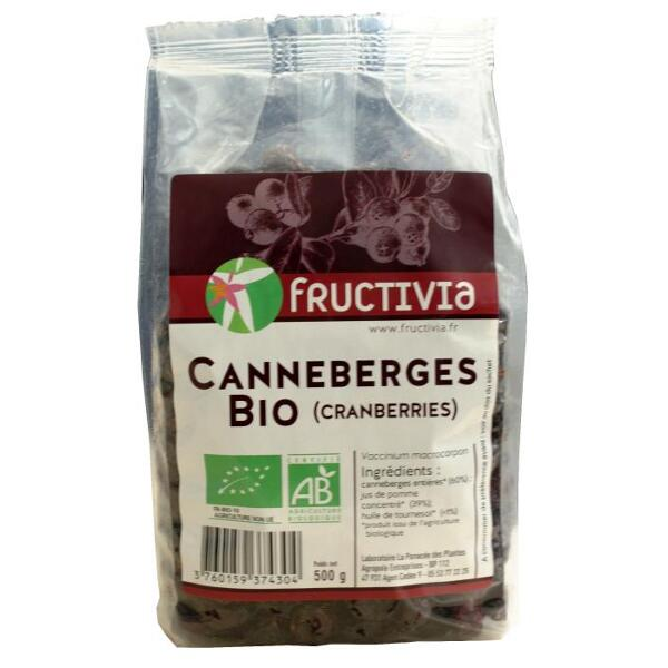 canneberges cranberries 500g bio