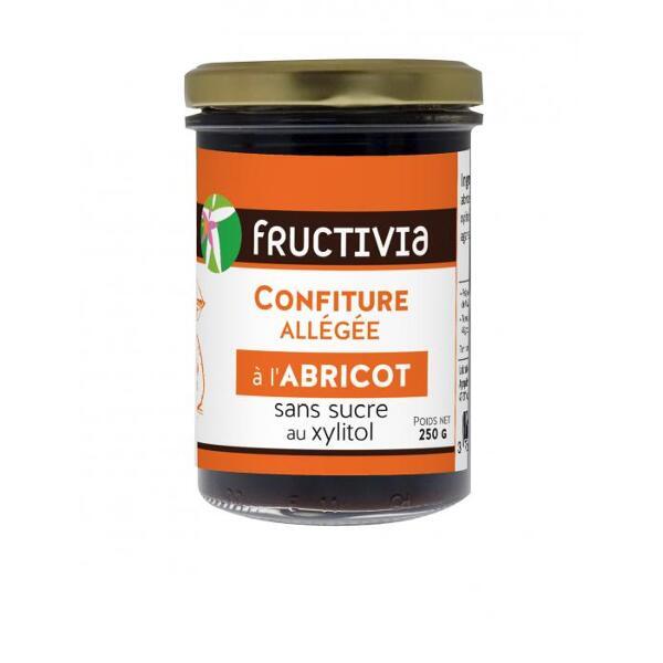 Confiture diététique à l'abricot et au xylitol - pot de 250g