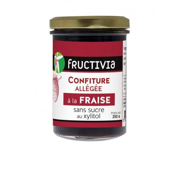 confiture diététique allégée au xylitol à la fraise