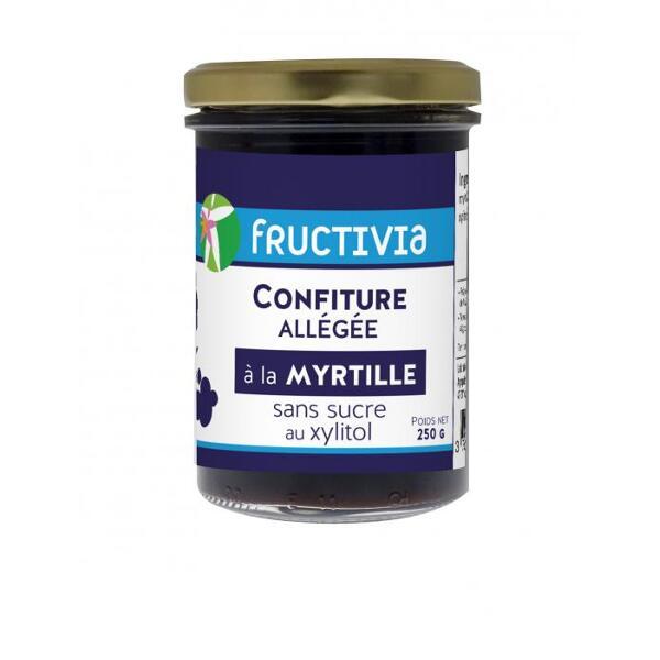 Confiture diététique à la myrtille et au xylitol - pot de 250g