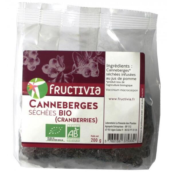 Cranberries infusées au jus de pomme