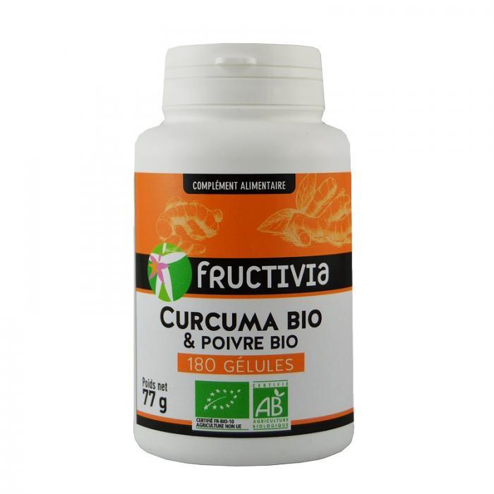 Curcuma et poivre bio* 180 gélules