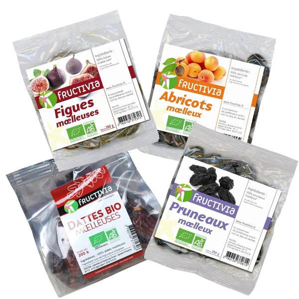 Lot de 6 sachets de fruits moelleux bio panaches