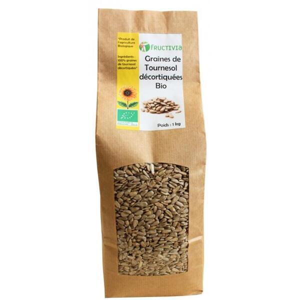 Graines de tournesol décortiquees bio* sachet 1kg