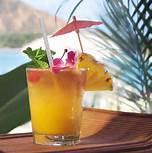 cocktail de jus de canneberge et de jus d'ananas pour les enfants