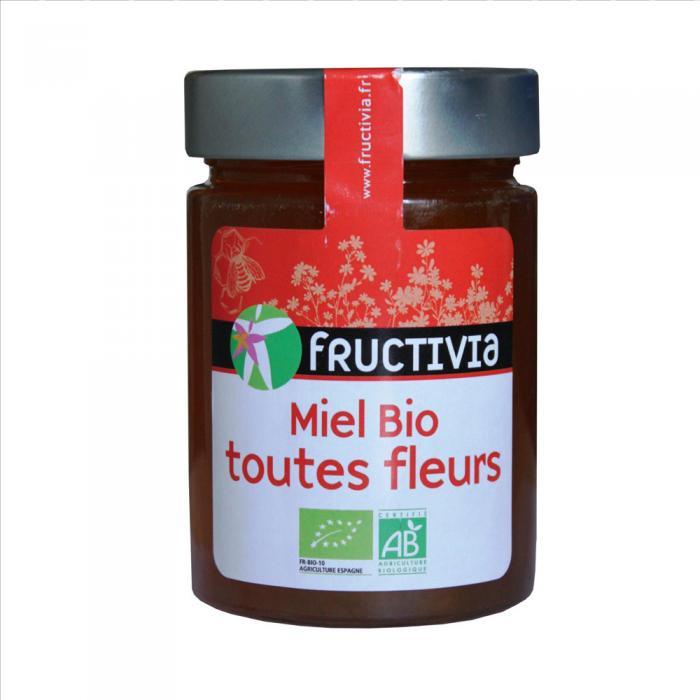 Miel Bio Toutes Fleurs Fructivia 450g