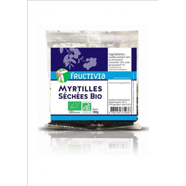 Myrtilles séchées BIO* - Sachet de 100 g