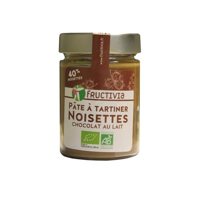 pâte à tartiner noisettes chocolat lait bio
