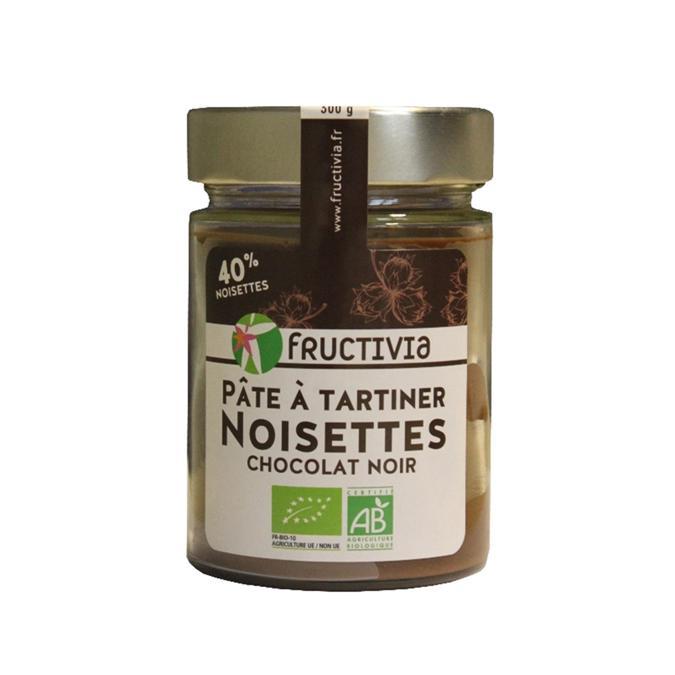 pâte à tartiner noisettes chocolat noir bio