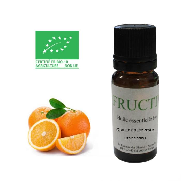 Huile essentielle orange douce zestes bio 10ml