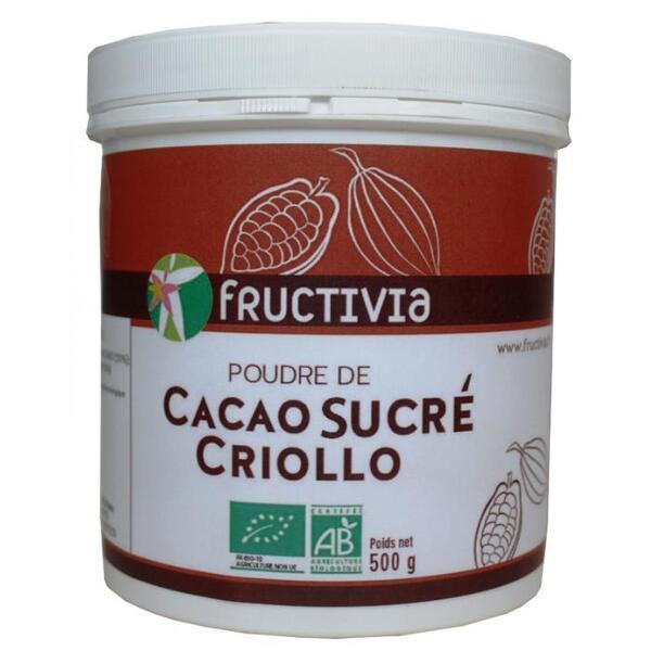 Poudre de cacao criollo sucre bio* 500g